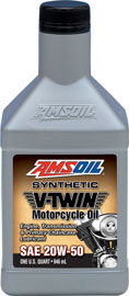 Amsoil (MCV) 20W-50 Synthetic V-Twin Motorcycle Oil