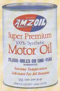 Amsoil Synthetic Oil Original Can 1972
