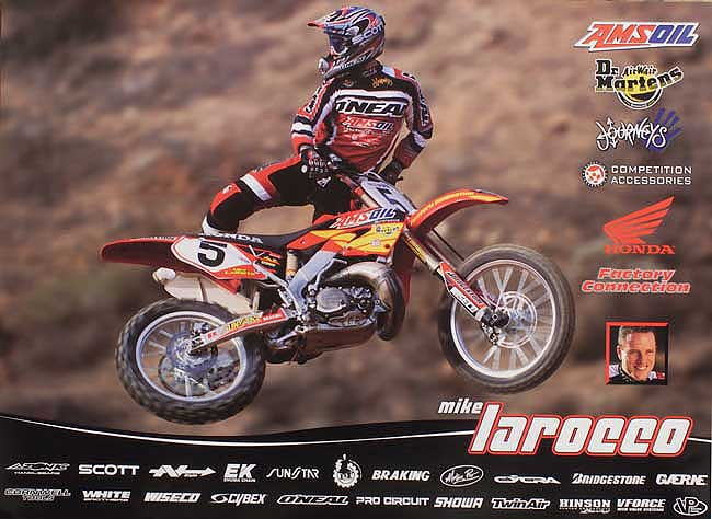Mike LaRocco 2001 AMSOIL/Dr. Martens/Journeys/Competition Accessories Team Poster