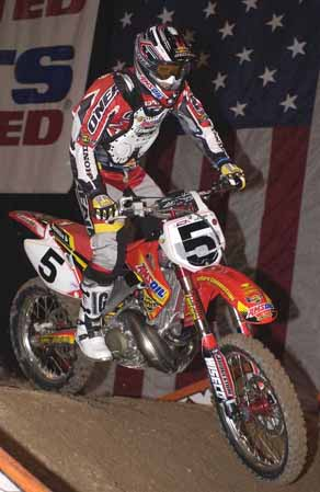 Mike LaRocco On Honda CR 250 Bike