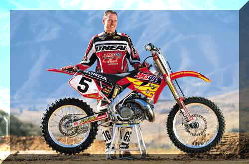 Mike LaRocco With His Honda 2-Stroke Bike