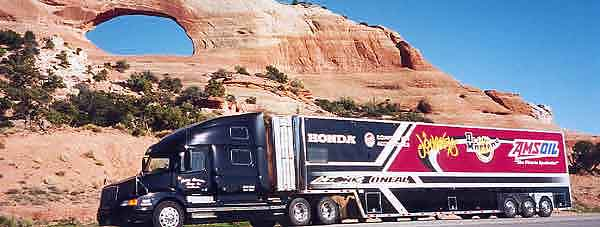 AMSOIL/Dr. Martens/Journeys/Competition Accessories Team Transport Truck Photo